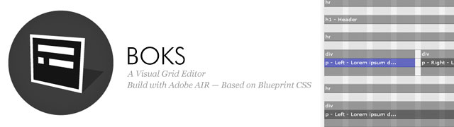 Boks air visual grid editor blueprint css boks is an air application windows mac and linux that provides a user interface for blueprint csss framework its been designed for those who think malvernweather Gallery