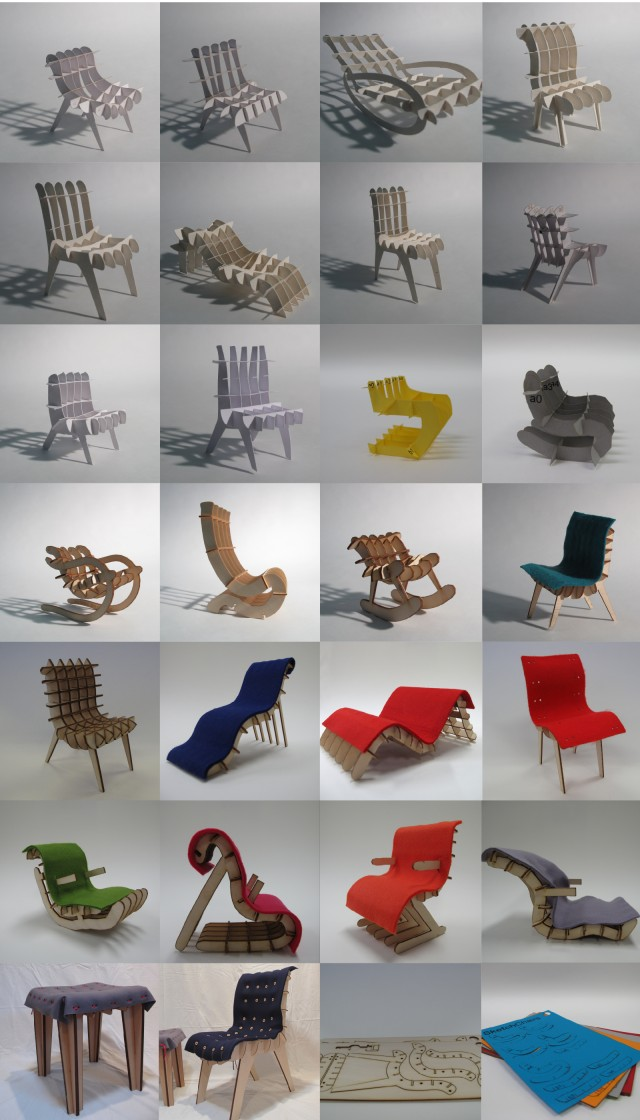 Sketch Chair Processing Objects Design Lasercut Cnc
