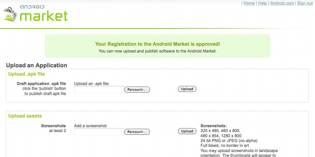 Android Market - Publish