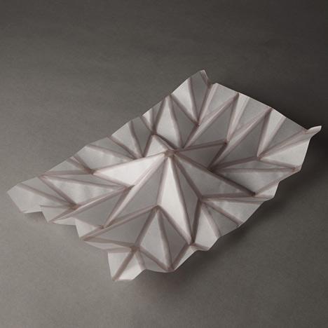 Hydro fold by christophe guberan self folding inkjet for Paper folding art projects