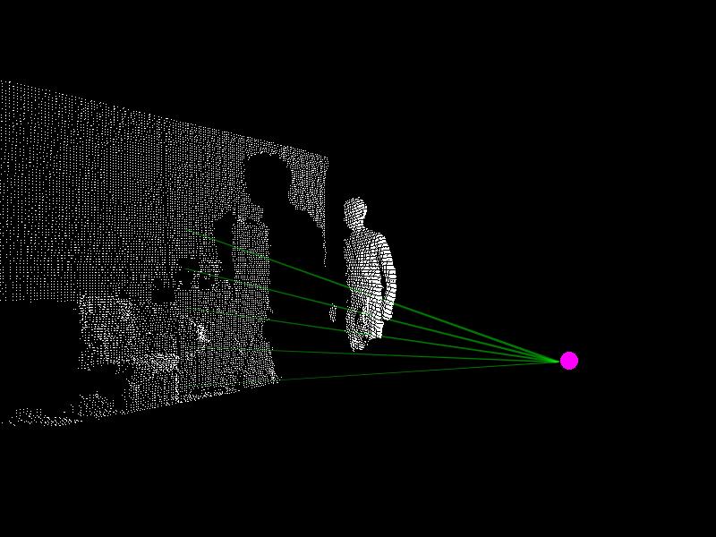 interactive laser sculpture by jayson haebich  kinect  openframeworks