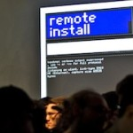 Remote Install – Installation that remotely installs itself in the gallery