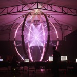Cycles – 17 laser projectors visualise audio inside a sphere