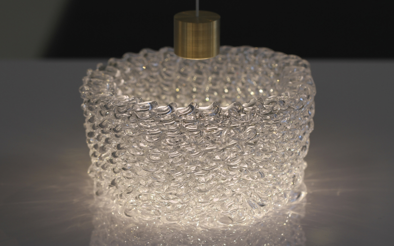 Caustic patterns of a 3D printed glass structure. Photo: Chikara Inamura.