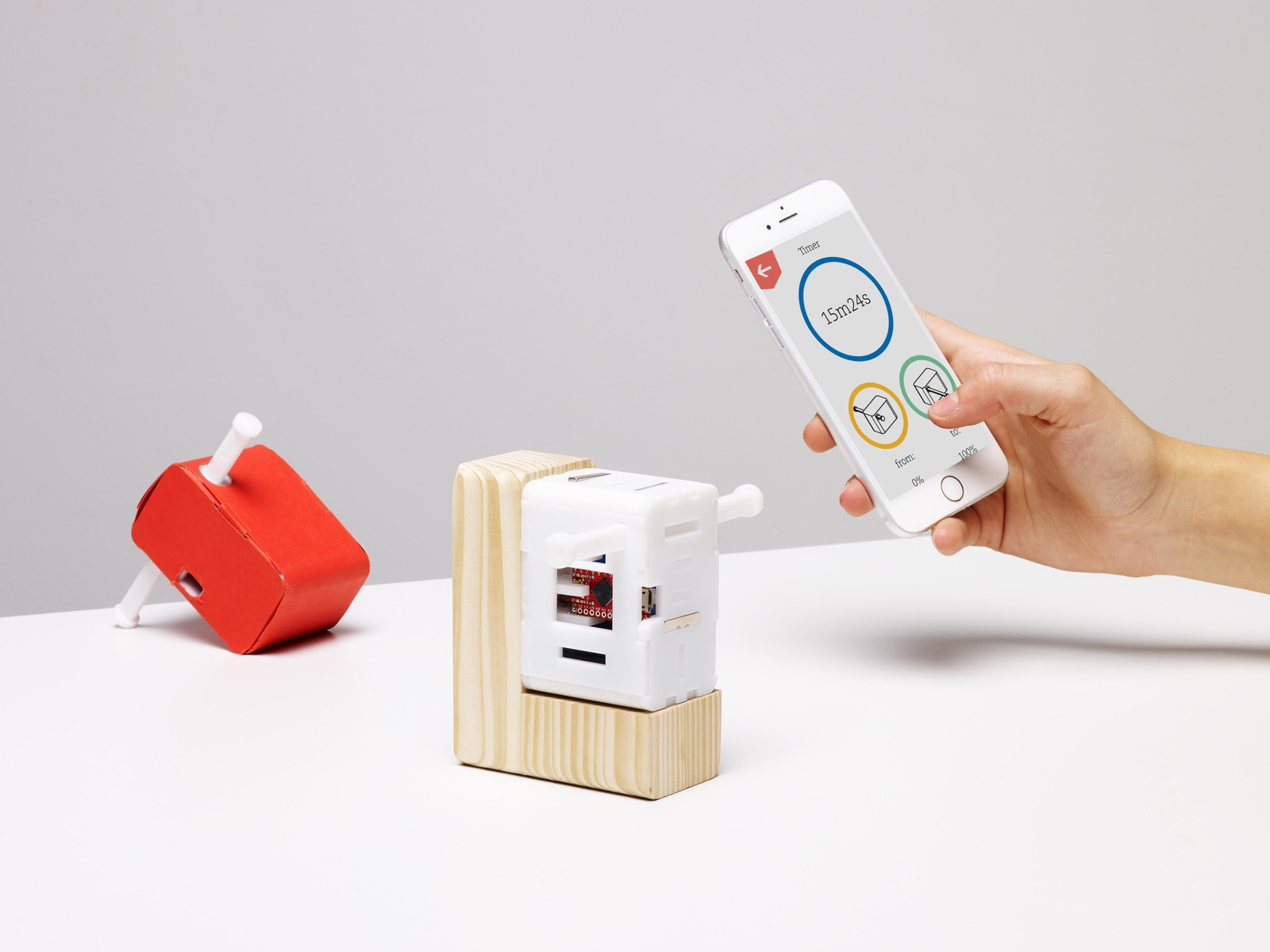 nelson tiny device that helps push a switch on everyday objects ecal ch. Black Bedroom Furniture Sets. Home Design Ideas
