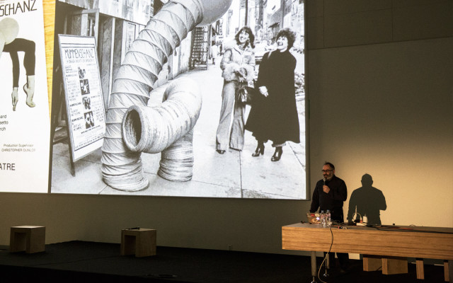 Golan Levin discusses the Swiss theatre troup Mummenschanz, who inspired his playful Double-Taker (Snout) robotics project.