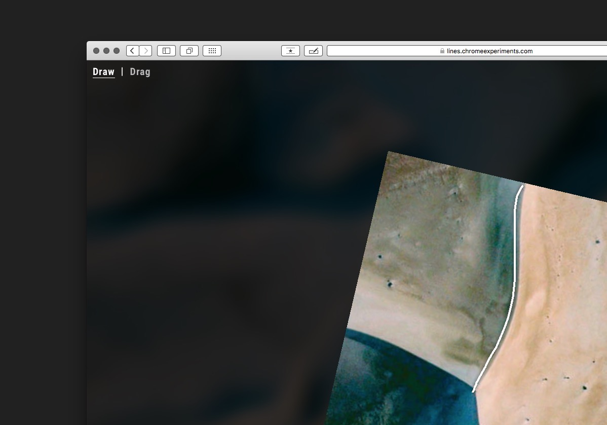 Drawing Lines With Google Earth : Land lines drawing satellite imagery through gesture