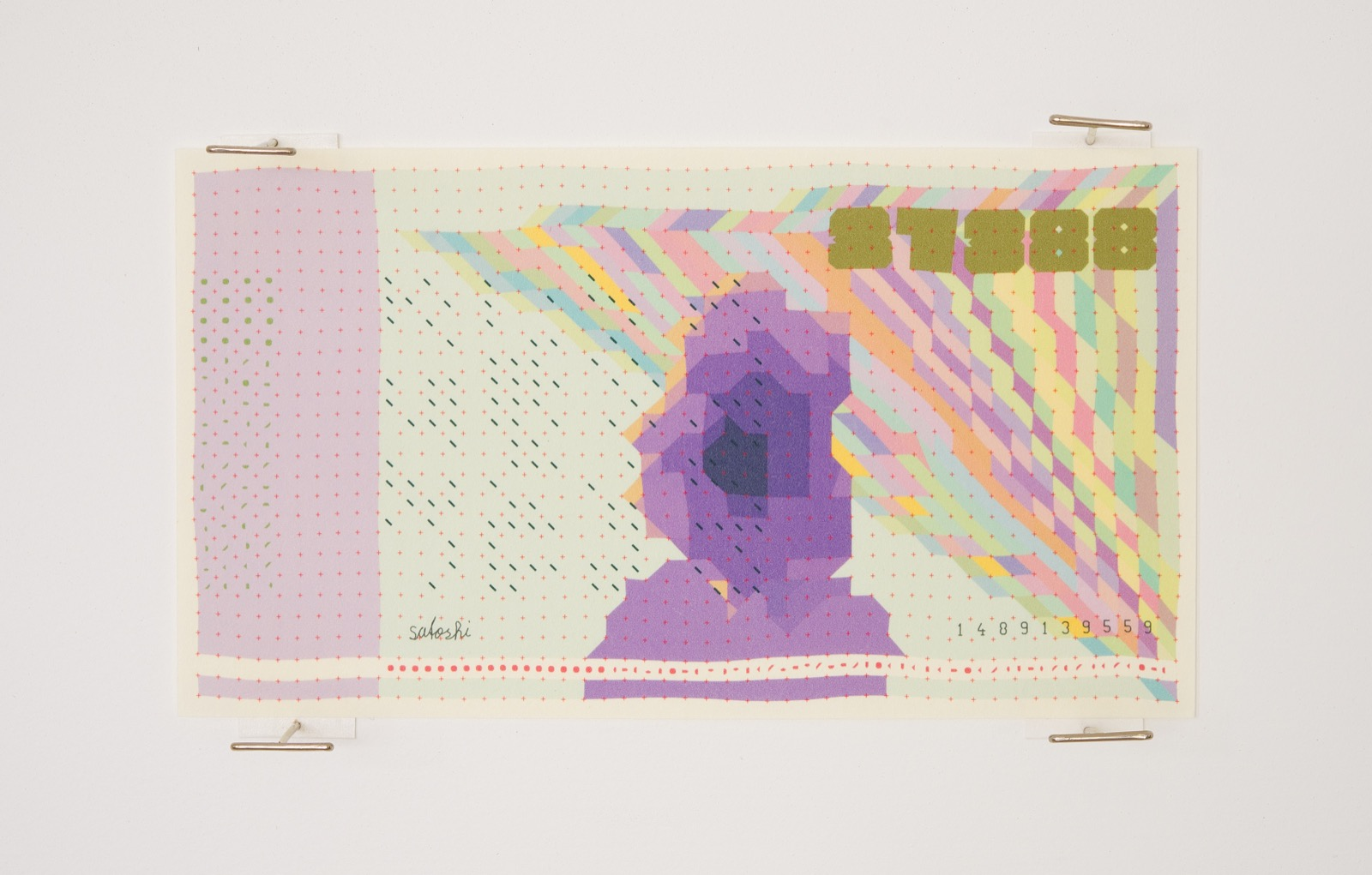 block bills 64 banknotes generated from the bitcoin blockchain