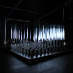 Volume – Interactive cube of responsive mirrors that redirects light and sound