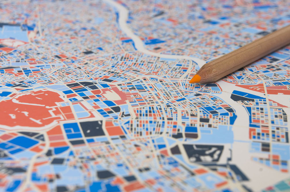 Deconstructing, Filling And Restitching Maps