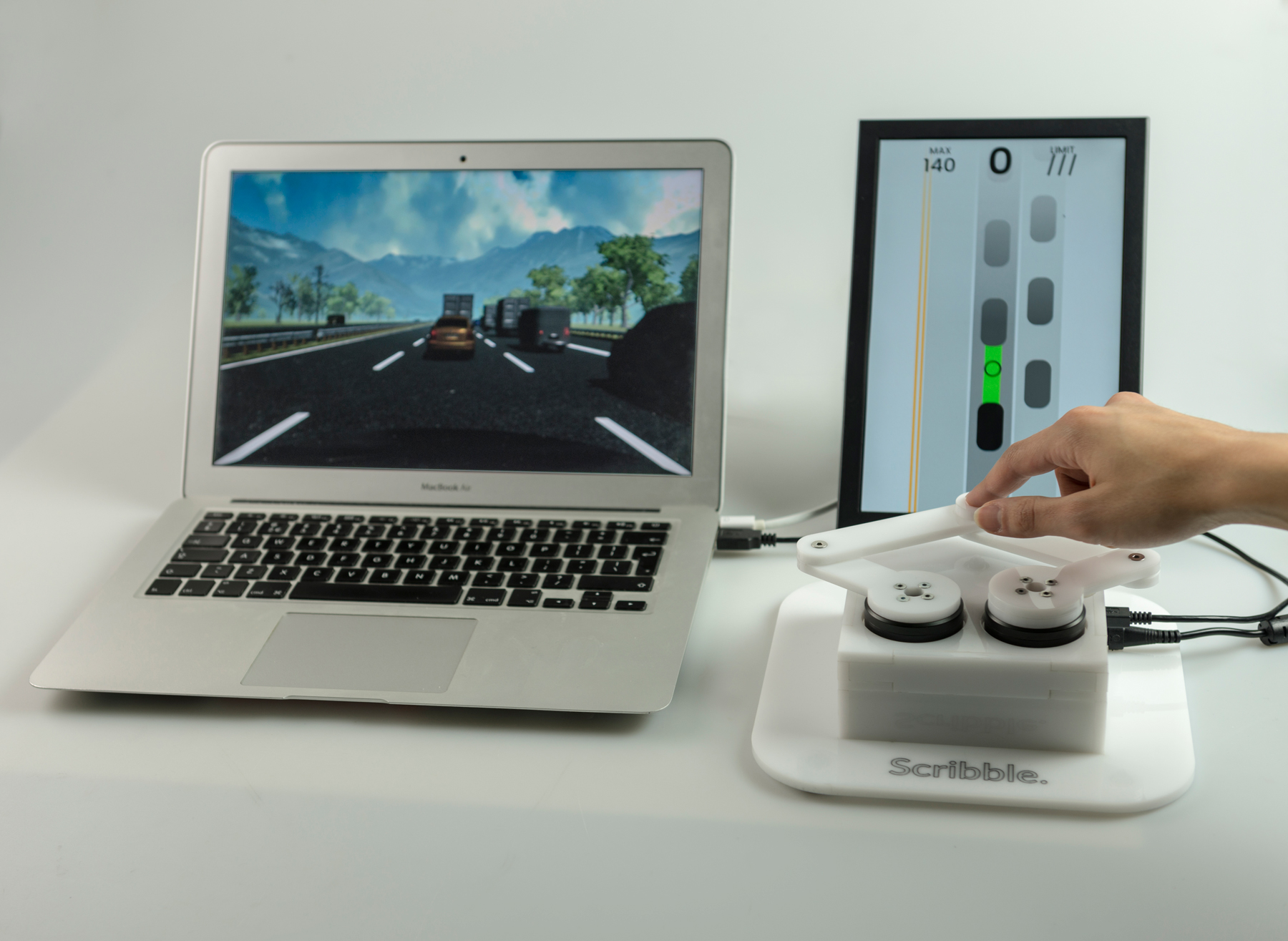 Scribble haptic interface for autonomous cars to draw