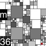 Grid Pattern Clock [iPhone]