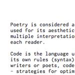 code {poems} by Ishac Bertran – Poetry with Code