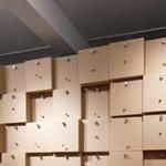 Zimoun: Volume –  294 prepared dc-motors, cork balls and cardboard boxes