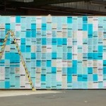 re:publica 2012 analogue twitter wall by Precious – 38,378 printed tweets
