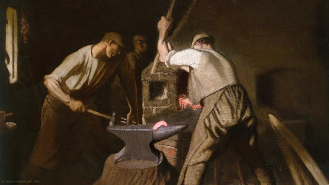 George Clausen – Our Blacksmith