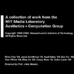 MIT Media Lab Aesthetics + Computation Group (1998-2000)
