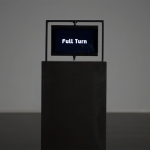 'Full Turn' draws third dimension using a flat screen rotating at high speed
