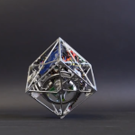 Cubli is a 15 cm3 cube that can jump up and balance on its corner