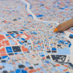 Modern Map Art –Deconstructing, filling and restitching maps