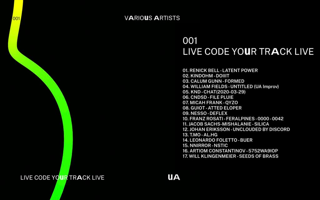 """""""Live code your track live"""" / Umanesimo Artificiale 1st Album Release"""